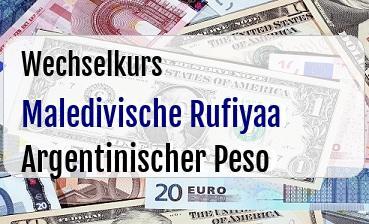 Maledivische Rufiyaa in Argentinischer Peso