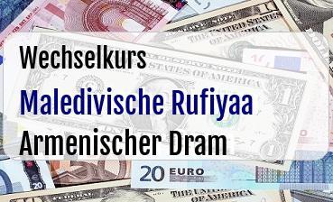 Maledivische Rufiyaa in Armenischer Dram