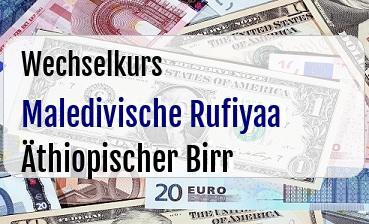 Maledivische Rufiyaa in Äthiopischer Birr