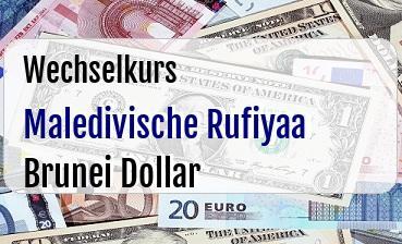 Maledivische Rufiyaa in Brunei Dollar