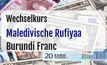 Maledivische Rufiyaa in Burundi Franc