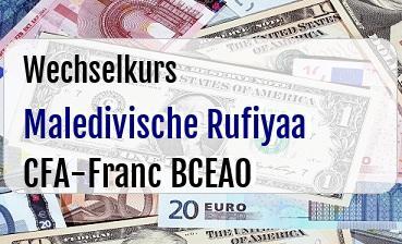 Maledivische Rufiyaa in CFA-Franc BCEAO