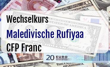 Maledivische Rufiyaa in CFP Franc