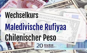 Maledivische Rufiyaa in Chilenischer Peso