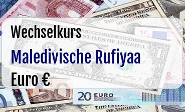 Maledivische Rufiyaa in Euro