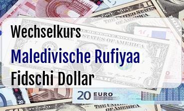 Maledivische Rufiyaa in Fidschi Dollar