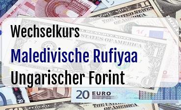 Maledivische Rufiyaa in Ungarischer Forint