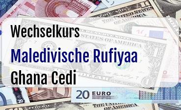 Maledivische Rufiyaa in Ghana Cedi