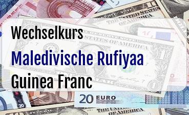 Maledivische Rufiyaa in Guinea Franc