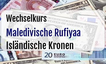 Maledivische Rufiyaa in Isländische Kronen