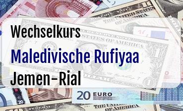Maledivische Rufiyaa in Jemen-Rial