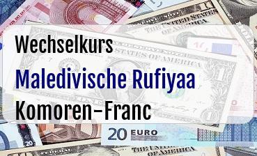 Maledivische Rufiyaa in Komoren-Franc