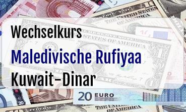 Maledivische Rufiyaa in Kuwait-Dinar