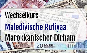 Maledivische Rufiyaa in Marokkanischer Dirham