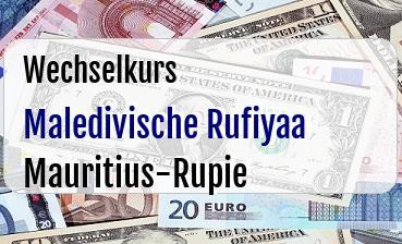 Maledivische Rufiyaa in Mauritius-Rupie