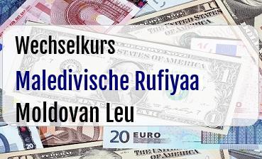 Maledivische Rufiyaa in Moldovan Leu