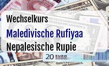 Maledivische Rufiyaa in Nepalesische Rupie