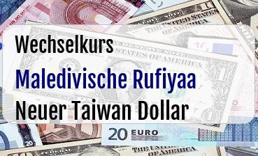 Maledivische Rufiyaa in Neuer Taiwan Dollar