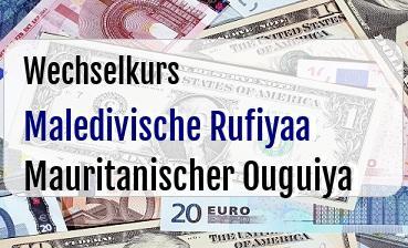 Maledivische Rufiyaa in Mauritanischer Ouguiya