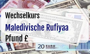 Maledivische Rufiyaa in Britische Pfund