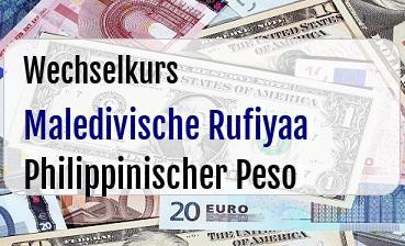 Maledivische Rufiyaa in Philippinischer Peso