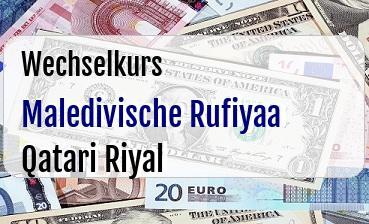 Maledivische Rufiyaa in Qatari Riyal