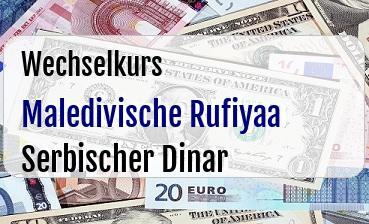 Maledivische Rufiyaa in Serbischer Dinar