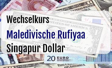 Maledivische Rufiyaa in Singapur Dollar