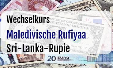 Maledivische Rufiyaa in Sri-Lanka-Rupie