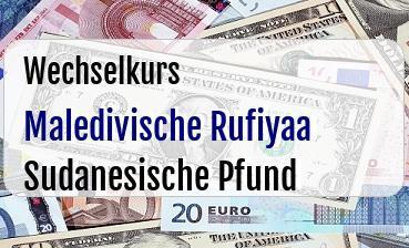 Maledivische Rufiyaa in Sudanesische Pfund