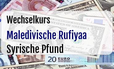 Maledivische Rufiyaa in Syrische Pfund