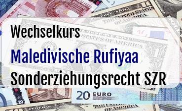 Maledivische Rufiyaa in Sonderziehungsrecht SZR
