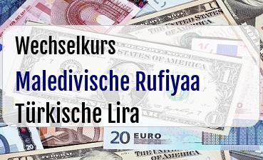 Maledivische Rufiyaa in Türkische Lira