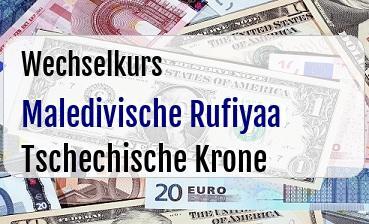 Maledivische Rufiyaa in Tschechische Krone