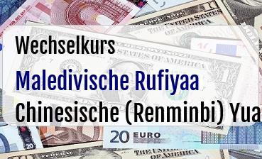 Maledivische Rufiyaa in Chinesische (Renminbi) Yuan