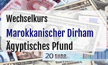 Marokkanischer Dirham in Ägyptisches Pfund