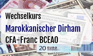 Marokkanischer Dirham in CFA-Franc BCEAO
