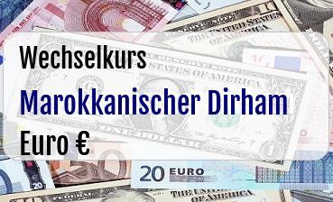 Marokkanischer Dirham in Euro