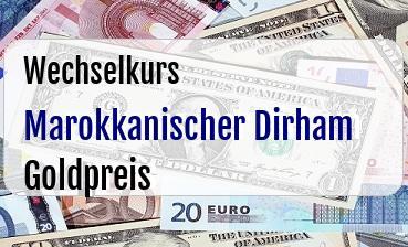 Marokkanischer Dirham in Goldpreis