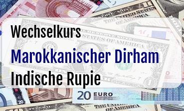 Marokkanischer Dirham in Indische Rupie
