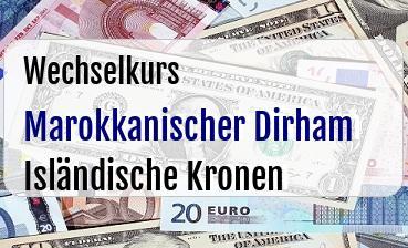 Marokkanischer Dirham in Isländische Kronen