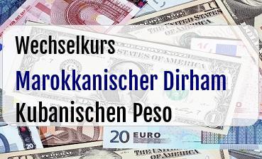 Marokkanischer Dirham in Kubanischen Peso