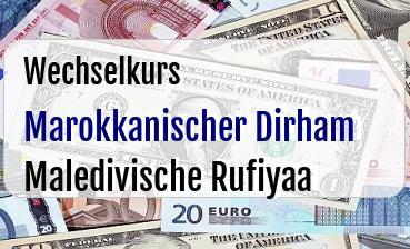 Marokkanischer Dirham in Maledivische Rufiyaa