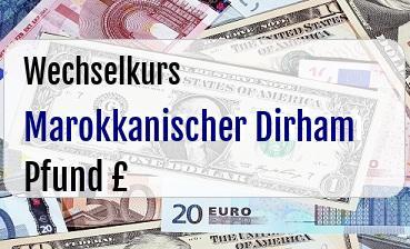 Marokkanischer Dirham in Britische Pfund
