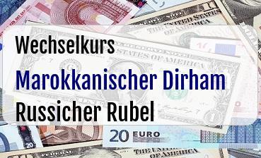 Marokkanischer Dirham in Russicher Rubel