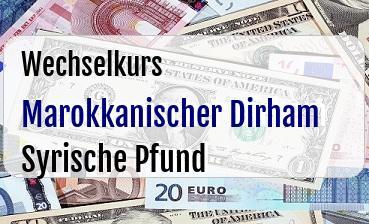 Marokkanischer Dirham in Syrische Pfund