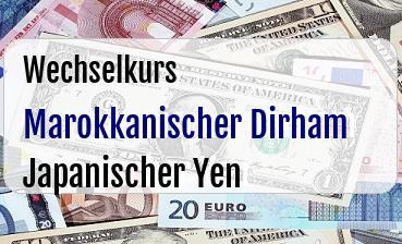 Marokkanischer Dirham in Japanischer Yen
