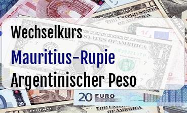 Mauritius-Rupie in Argentinischer Peso