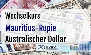 Mauritius-Rupie in Australischer Dollar