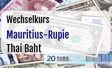 Mauritius-Rupie in Thai Baht